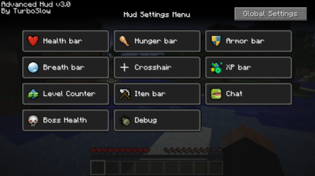 Advanced HUD Mod 1.7.10/1.7.2/1.6.4/1.5.2