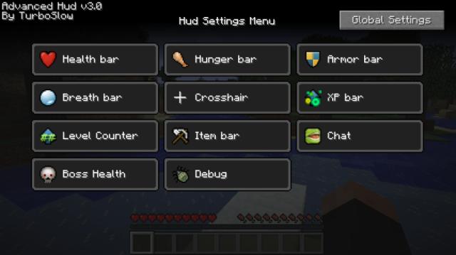 Advanced HUD Mod 1.7.10/1.7.2/1.6.4/1.5.2