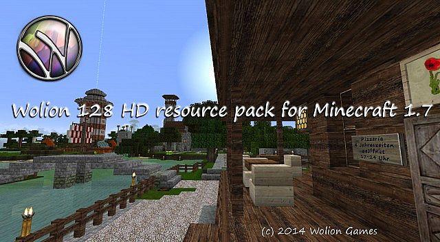 Wolion HD Resource Pack 1.7.9/1.7.2 [64x,128x]