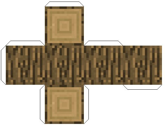 Minecraft из бумаги: Блоки