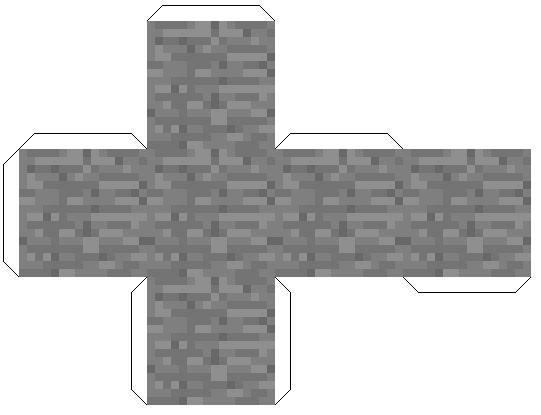 майнкрафт картинки из бумаги блоки