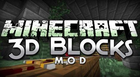 Blocks 3D Mod 1.7.10/1.7.2/1.6.4/1.5.2