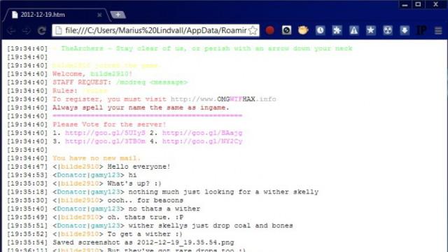 ChatLog Mod 1.8/1.7.10/1.6.4/1.5.2