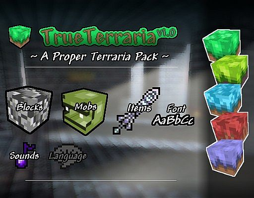 True Terraria Resource Pack 1.7.10/1.7.9/1.7.2 [16x]