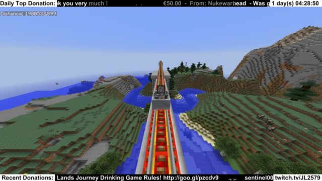 17 дней на достижение Края Мира Minecraft в прямом эфире