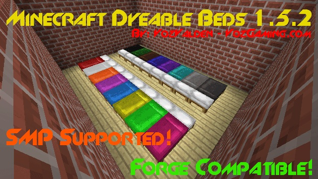 Dyeable Beds Mod 1.7.10/1.7.2/1.5.2