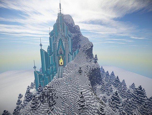 Elsa's Ice Castle – Frozen Map 1.7.10/1.7.9