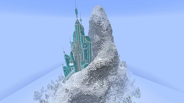 Elsa's Ice Castle – Frozen Map 1.7.10/1.7.9