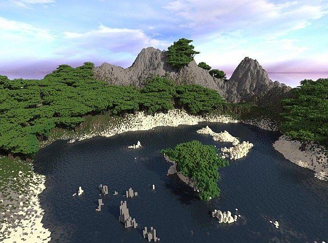 Tropical Island Map 1.7.10/1.7.9