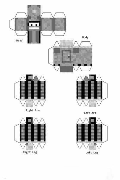 майнкрафт картинки мобов из бумаги