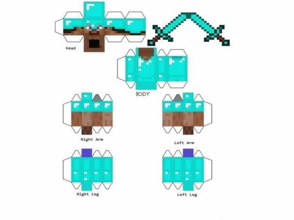 Minecraft из бумаги: Стив и