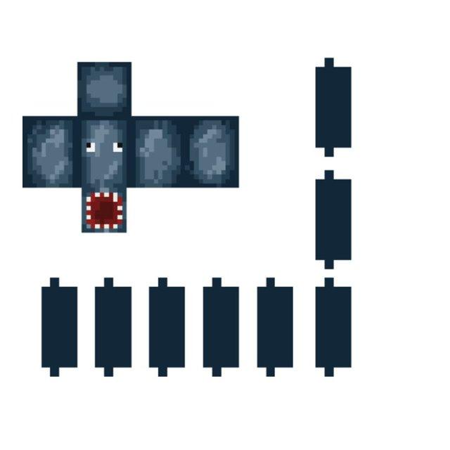 Minecraft из бумаги: Стив и Мобы