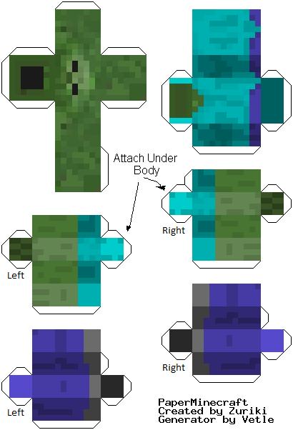 Minecraft papercraft printouts