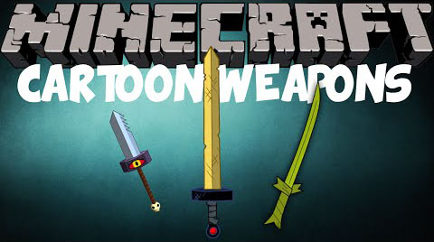 Cartoon Weapons Mod 1.7.10/1.7.2