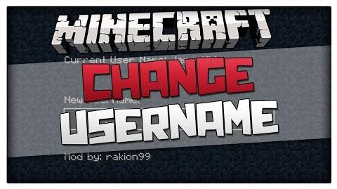 Ingame Username Change Mod 1.8/1.7.10