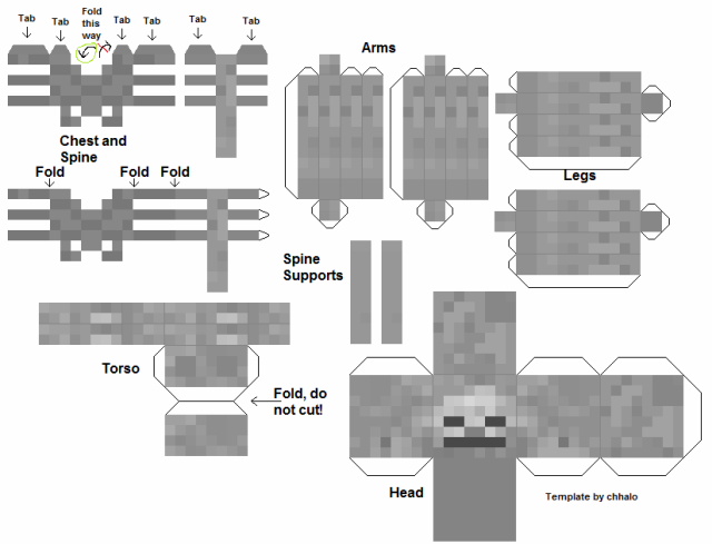 Minecraftskeleypapercraft