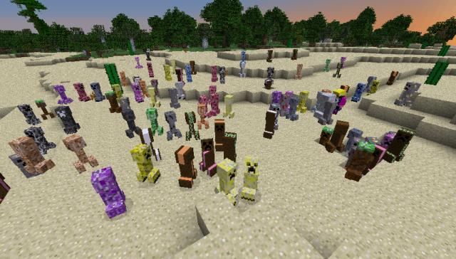 Elemental Creepers 2 Mod 1.8/1.7.10/1.7.2/1.6.4