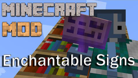 Enchantable Signs Mod 1.8