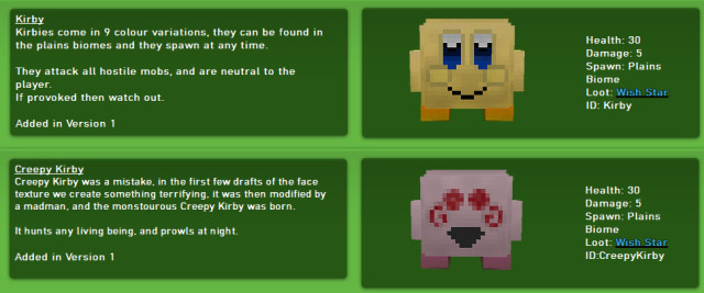 Kirby and Friends Mod 1.7.10