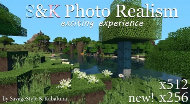 S&K Photo Realism HD Resource Pack 1.8.3/1.8/1.7.10/1.6.4 [256x, 512x ]