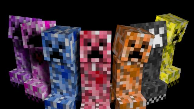 Elemental Creepers 2 - новые виды криперов [1.12.2] [1.8] [1.7.10]