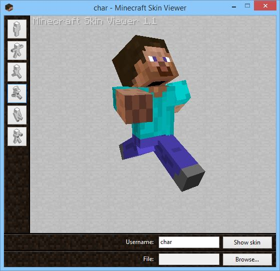 Minecraft Skin Viewer 1.9/1.8.9/1.8 [Win/WP]