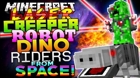 Laser Creeper Robot Dino Riders [1.10.2] [1.7.10]