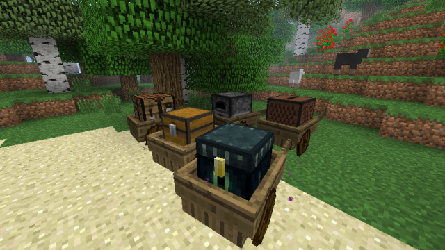 Cart, Loom and Wheel Mod 1.7.10
