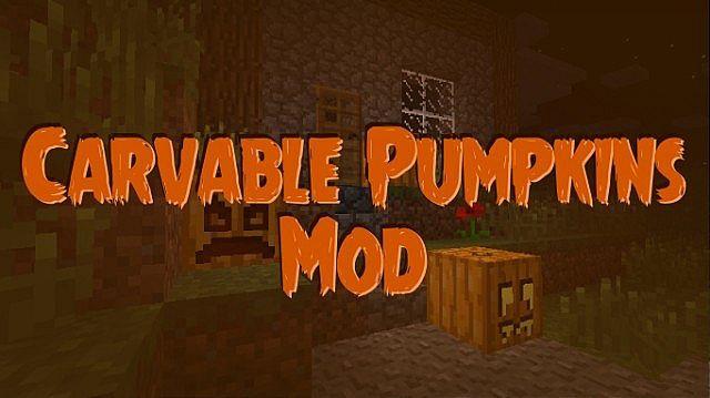 Carvable Pumpkins Mod 1.7.10/1.7.2