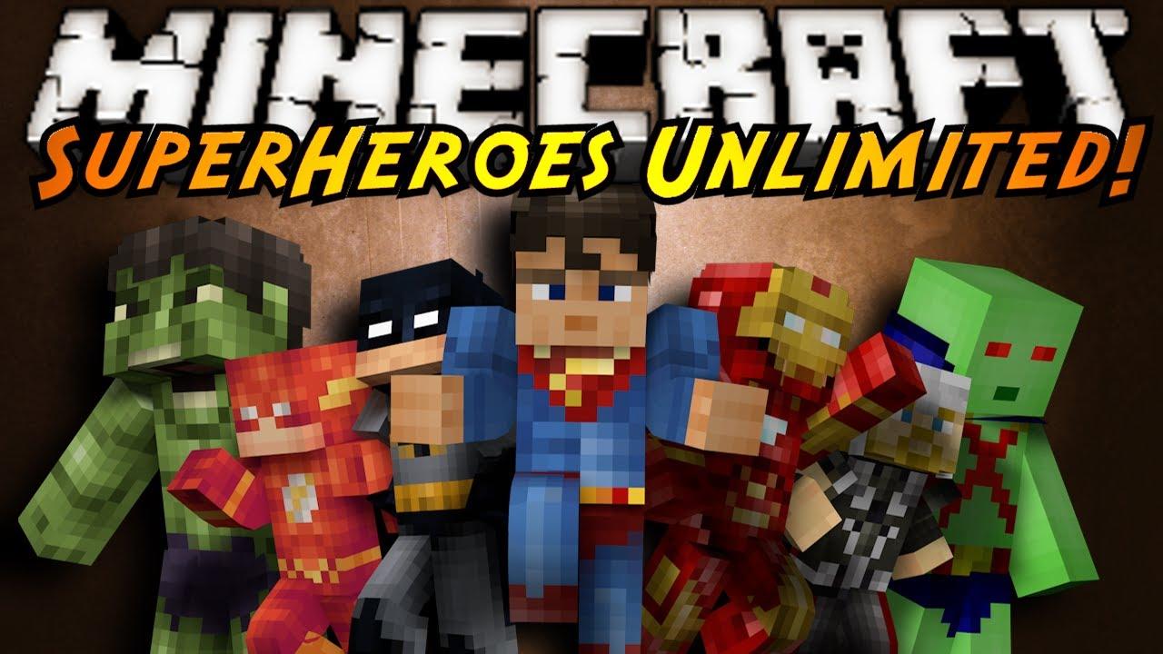 Майнкрафт с модом на супергероев скачать