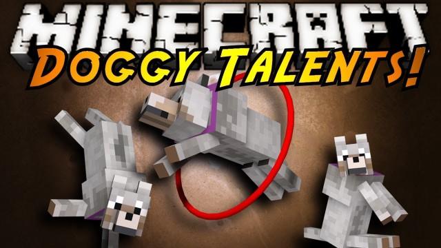 Doggy Talents [1.14.3] [1.13.2] [1.12.2 - 1.10.2] [1.7.10] (дрессировка собак)