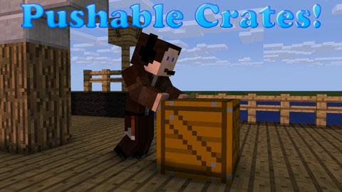 Pushable Crates 1.8/1.7.10