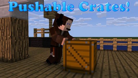 Pushable Crates 1.8/1.7.10