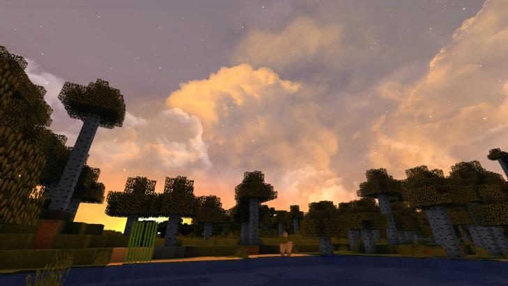 Dramatic Skys - реалистичные облака [1.13] [1.12.2] [1.11.2] [1.10.2] (16x)