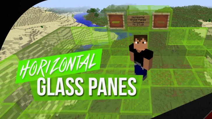 Horizontal Glass Panes - горизонтальные стеклянные панели [1.13.2] [1.12.2] [1.11.2] [1.9 - 1.7.10]