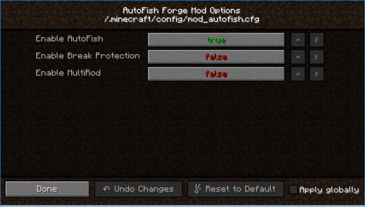 AutoFish - автоматическая рыбалка [1.14.2] [1.13.2] [1.12.2] [1.10.2] [1.7.10]