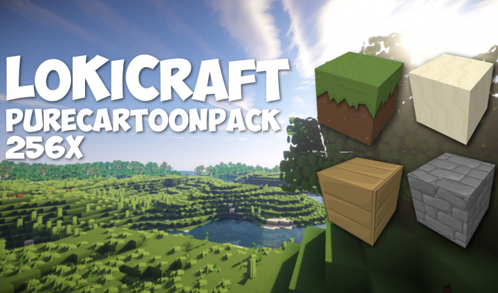 LoKiCraft PureCartoon [1.11] [1.10.2] [1.9.4] [1.8.9] (128x, 256x)