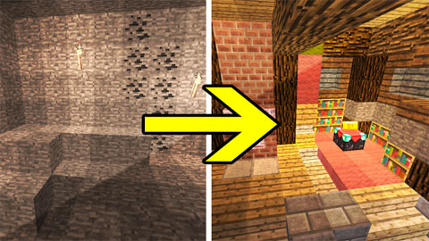 Transforming Redstone Cave Map 1.8.9/1.8