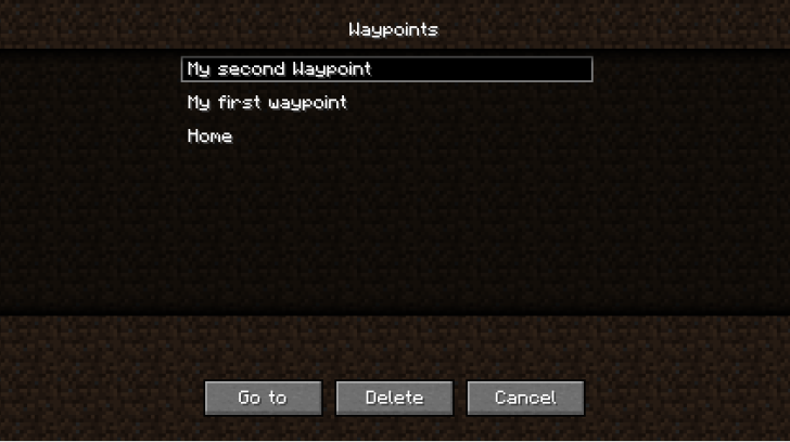 Waypoints - путевые точки [1.12.2] [1.11.2] [1.10.2] [1.9.4]