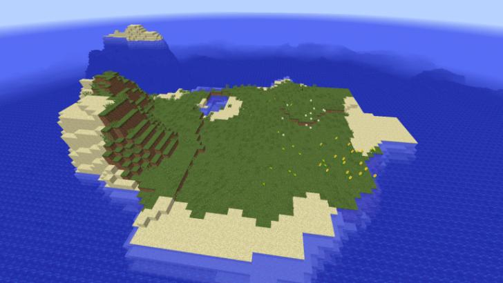 Сид с подводной крепостью и грибным островом [1.10.2]