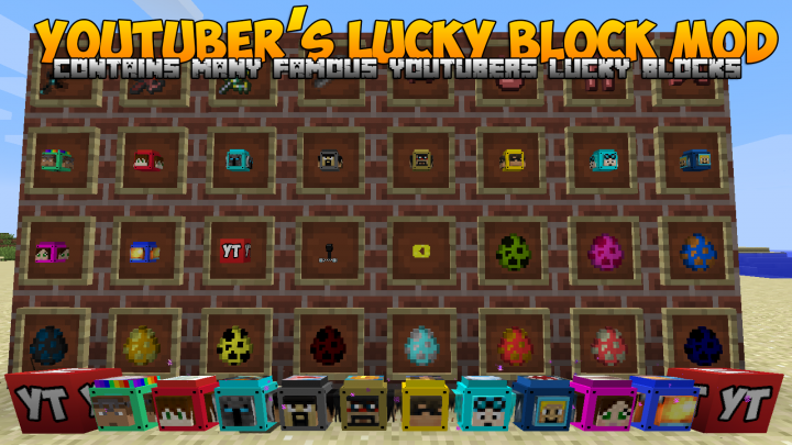 Youtuber's Lucky Blocks [1.10.2] [1.9.4] [1.8.9]
