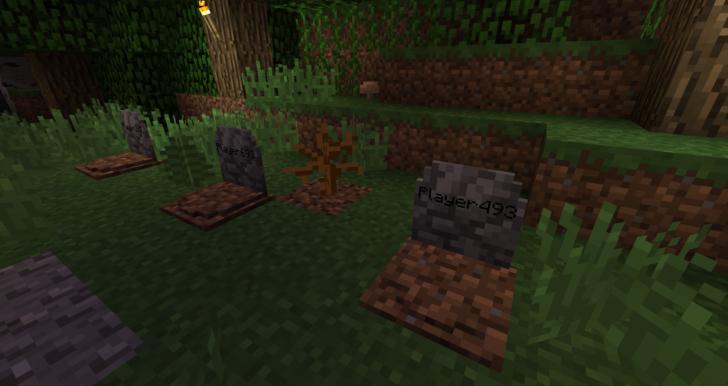 GraveStone [1.14.4] [1.13.2] [1.12.2] [1.7.10] (сохранение вещей из инвентаря)