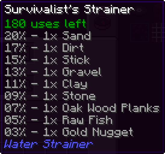 Water Strainer [1.10.2] [1.9.4]
