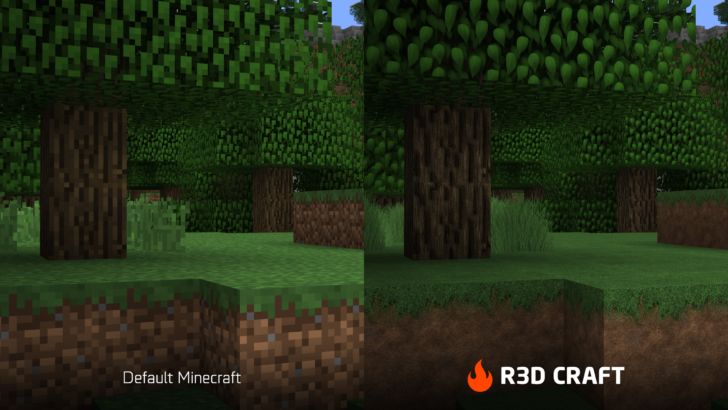 R3D CRAFT [1.12.2] [1.11.2] [1.10.2] [1.7.10] (32x, 64x, 128x, 256x, 512x)