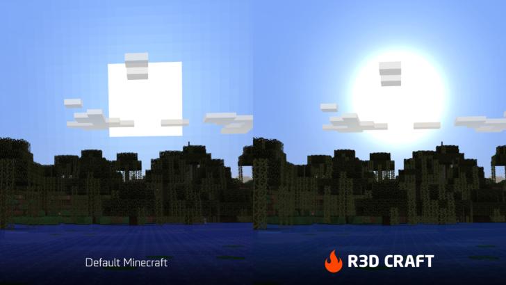 R3D CRAFT [1.10.2] [1.9.4] [1.8.9] (32x, 64x, 128x, 256x, 512x)