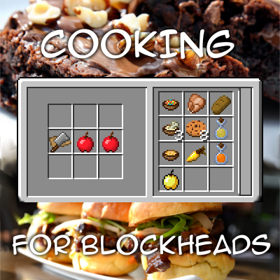 Cooking for Blockheads [1.12.2 - 1.10.2] [1.8.9] [1.7.10] (поваренная книга)