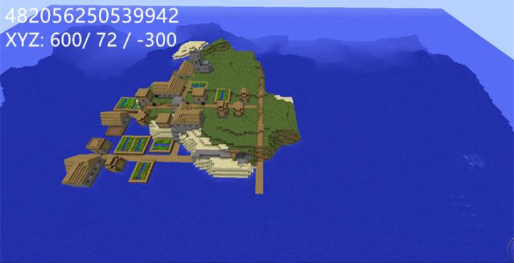 minecraft island village