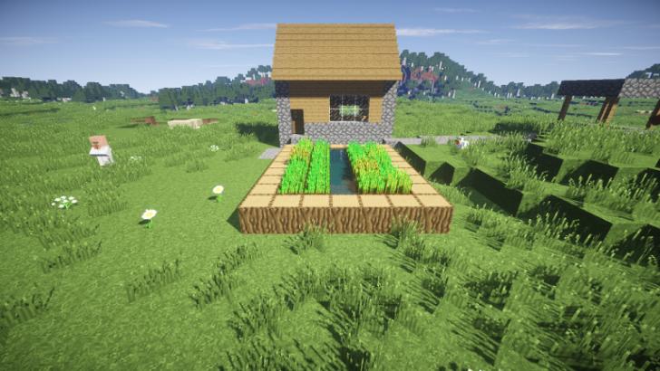 Сид с мини-деревней состоящей из одного дома [1.9.4] [1.8.9] [1.7.10]