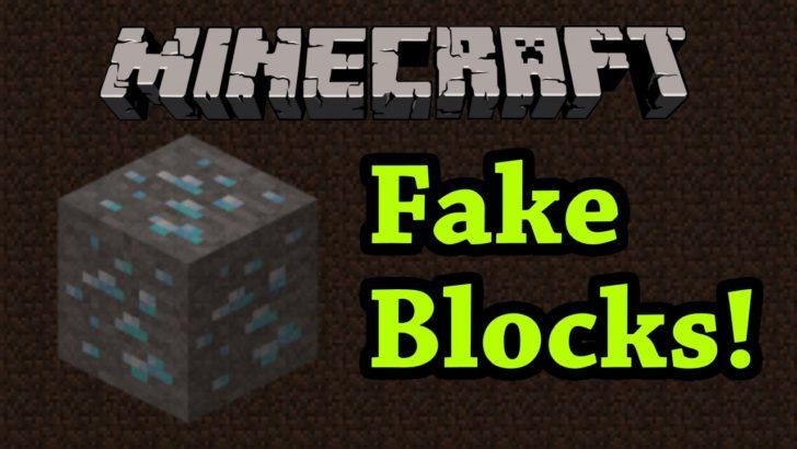 Fake Blocks [1.12.2 - 1.8.9] (фальшивые блоки)