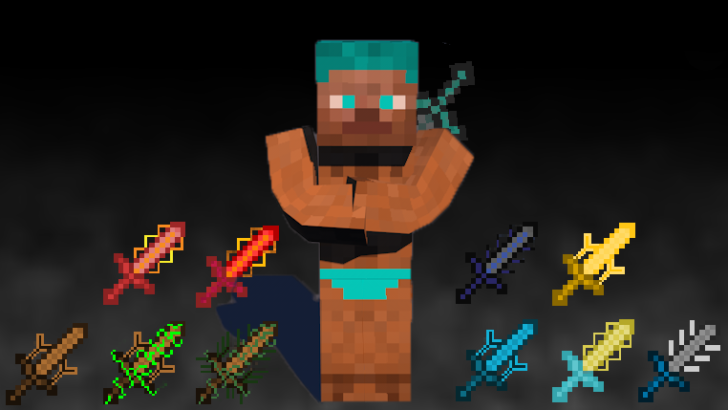 Cyan Warrior Swords [1.7.10] [1.6.4]